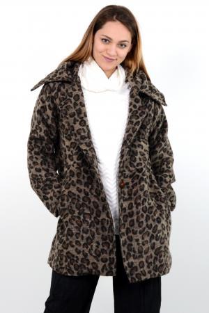 Γυναικεία ζακέτα leopard με κουκούλα