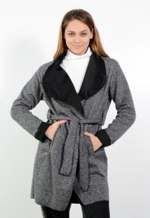 Γυναικεία ζακέτα tweed με ζώνη