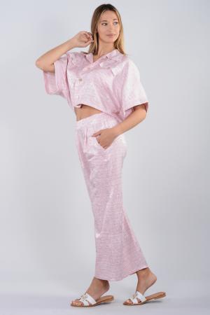 Γυναικείο σετ παντελόνα-πουκαμίσα